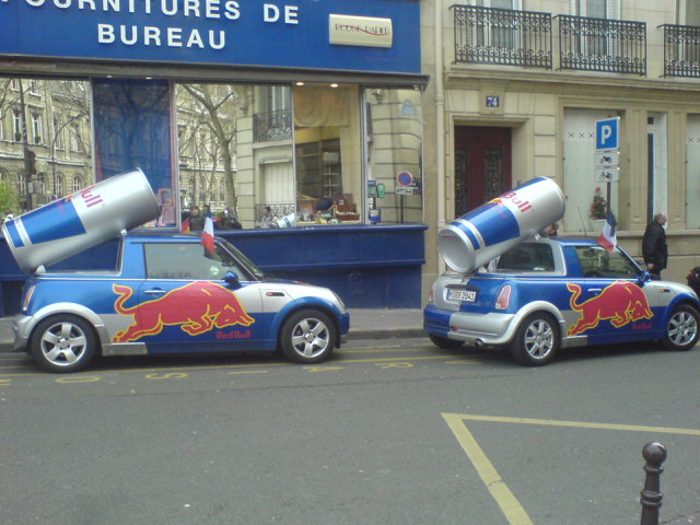 Voitures Red Bull